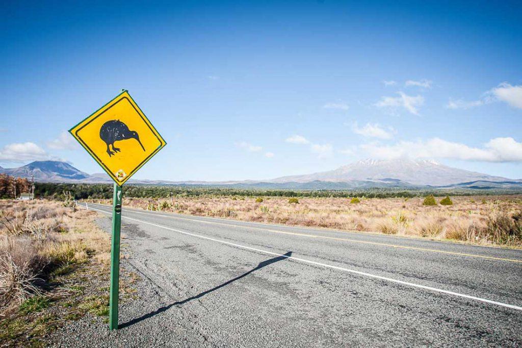 Roadsign Tongariro Nationalpark