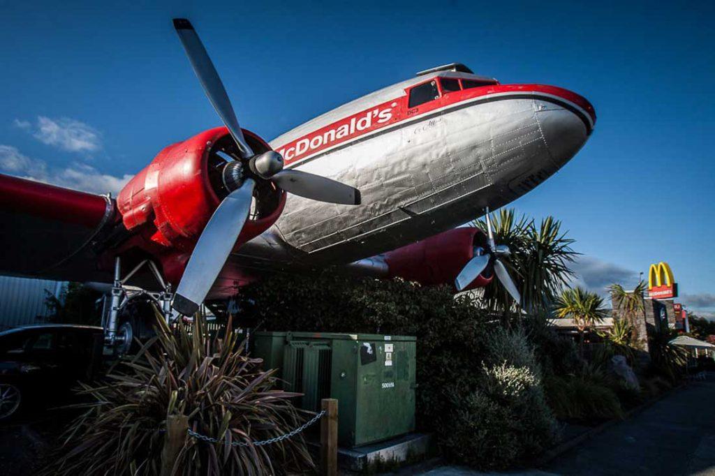 Mc Donalds Flugzeug Taupo