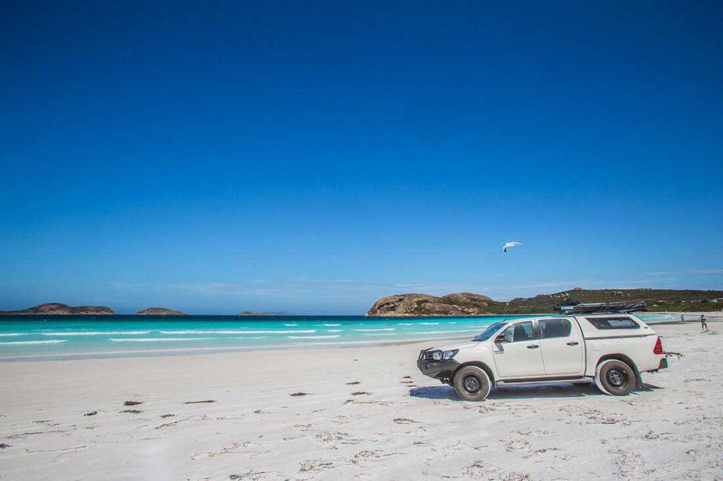 Auto am Strand in Australien