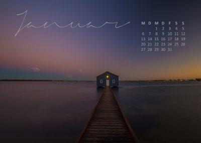 Australien Kalender Januar