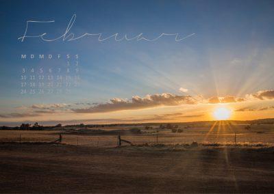 Australien Kalender Februar