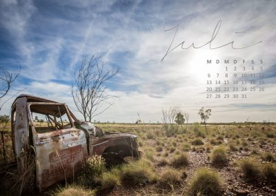 Australien Kalender Juli