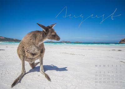 Australien Kalender August