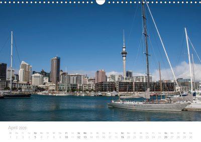 Neuseeland Kalender April