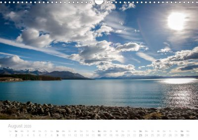 Neuseeland Kalender August