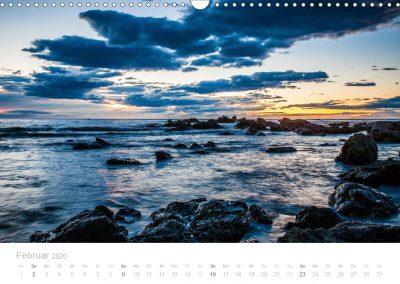 Neuseeland Kalender Februar