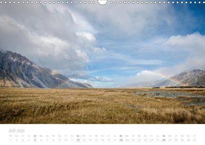 Neuseeland Kalender Juli