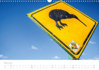 Neuseeland Kalender Mai