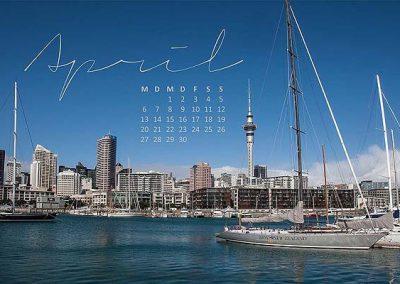 Kalender Neuseeland Monat April