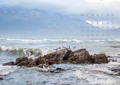 Kalender Neuseeland Monat Februar