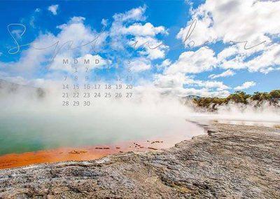 Kalender Neuseeland Monat September