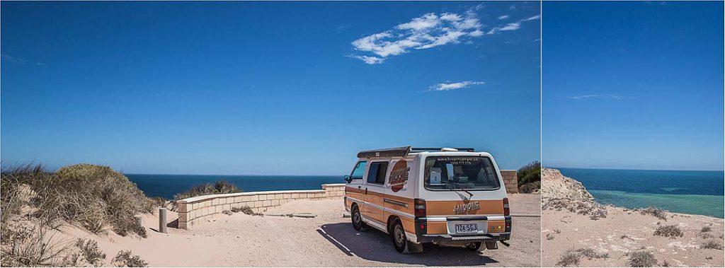 orangener Camping Bulliin Australien