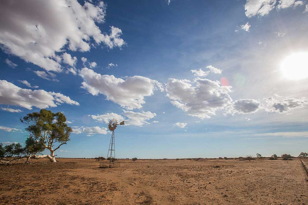 Windrad in Australiens Outback