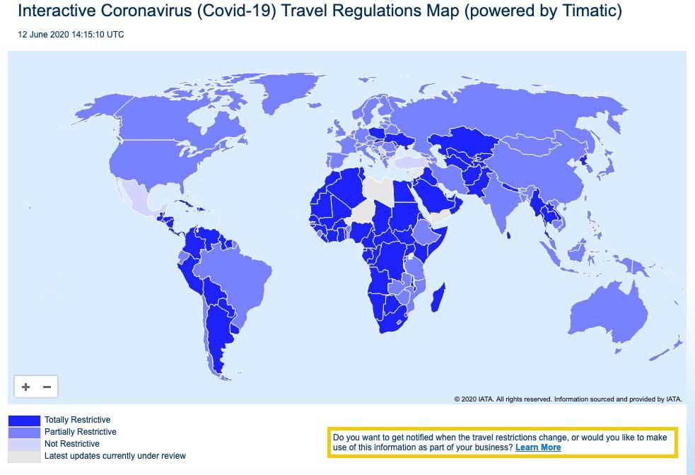 Interaktive Corona Weltkarte