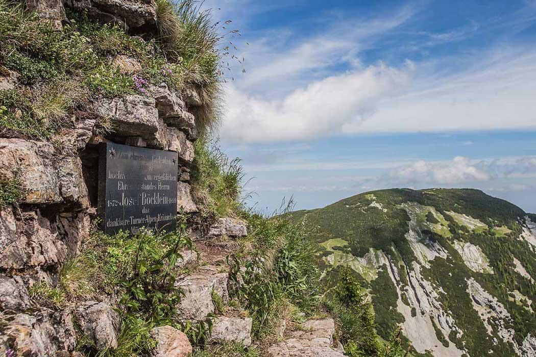 Gedenktafel Rotwand Gipfel