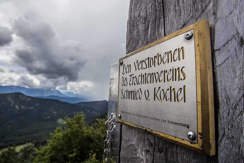 Gedenktafel Rabenkopf Gipfel